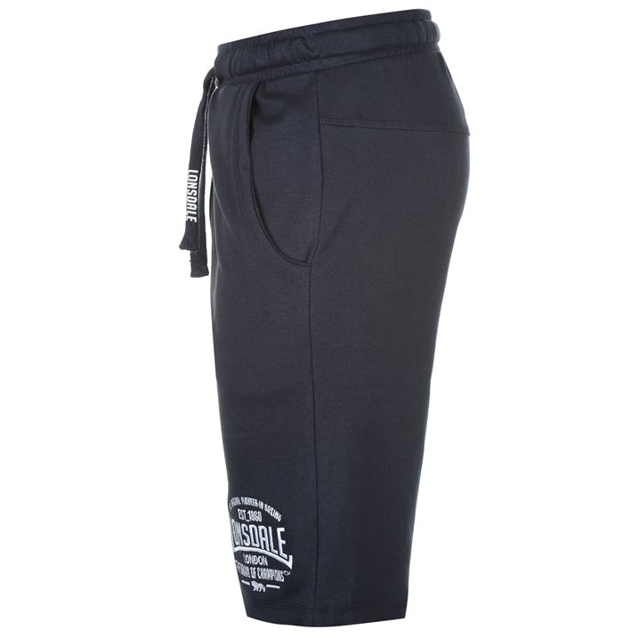 Navy Men's Box Lightweight Shorts By Lonsdale