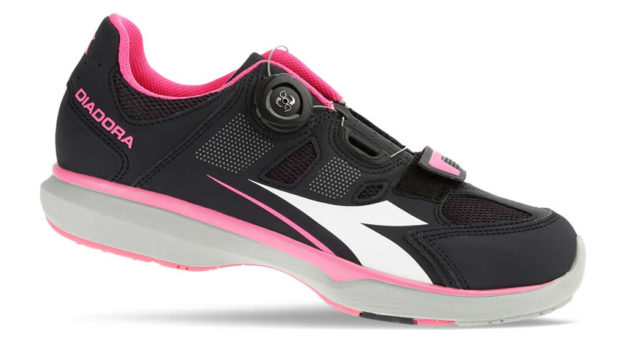 Pink Women's indoor cycling shoes by Diadora
