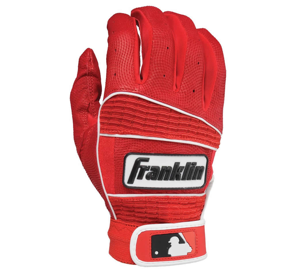 Red Baseball batting glove By Franklin Sports