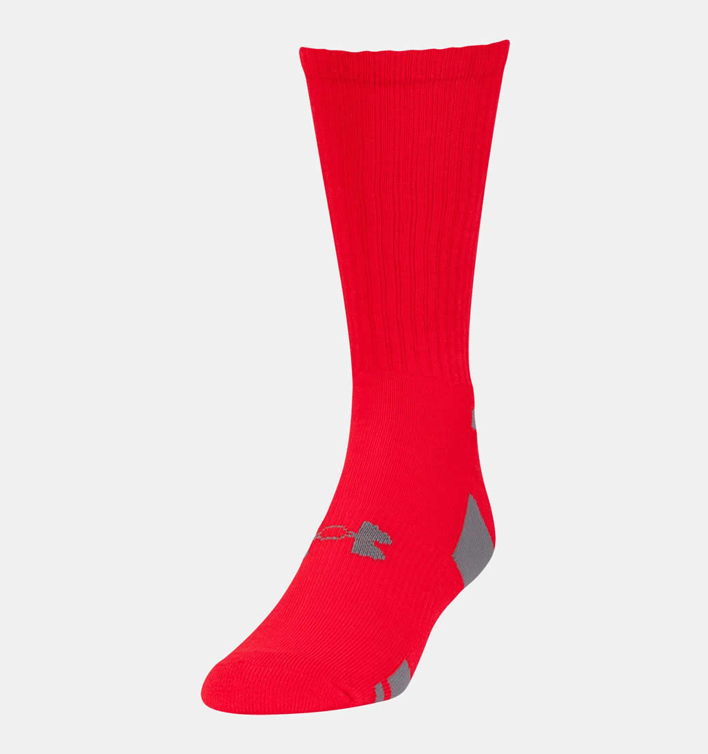 Red HeatGear Socks 3-Pack By Under Armour