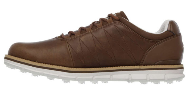 Skechers Brown GO GOLF Elite Shoes For Men, Side