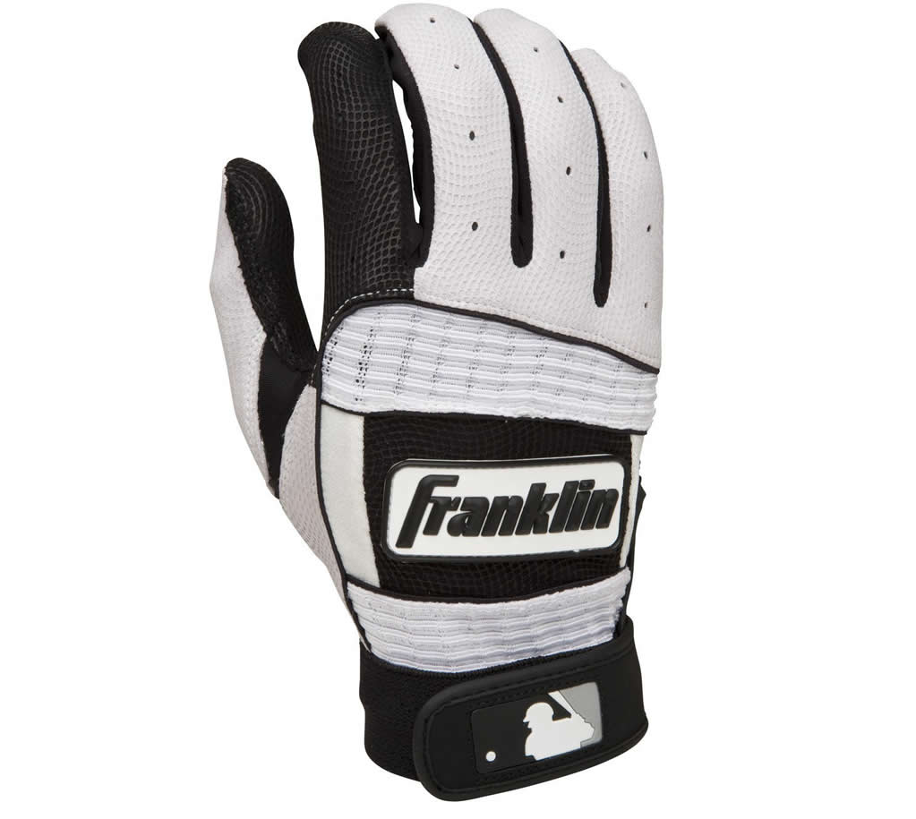 White Baseball batting glove By Franklin Sports