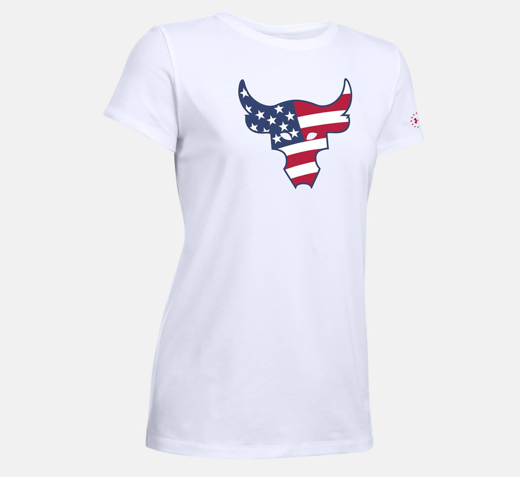 White The Troops Bull T-Shirt For Women by UA