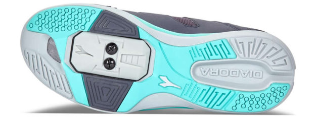 Women's indoor cycling shoes by Diadora, Sole