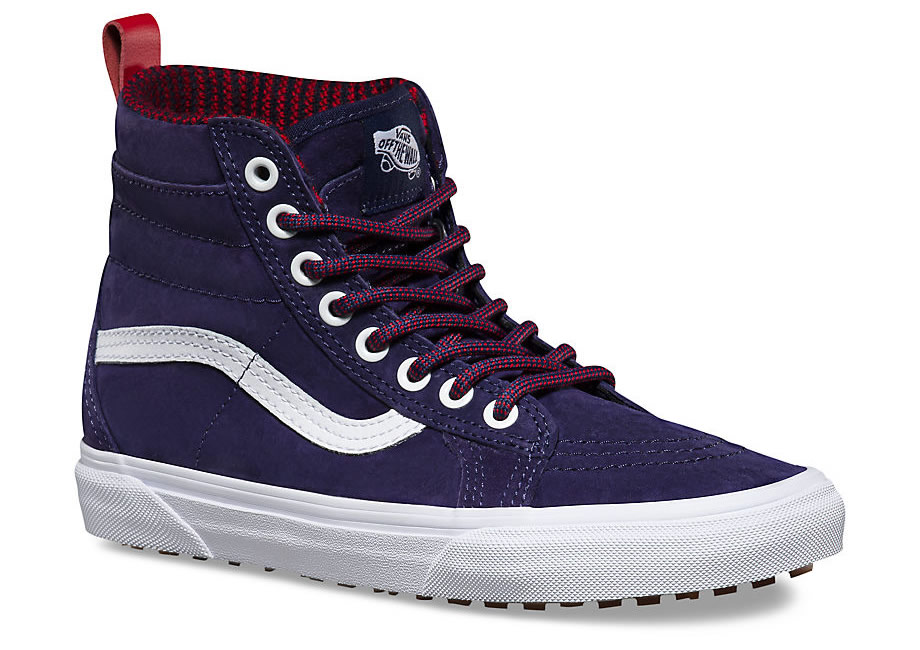 Blue Sk8-Hi MTE Skate Shoes By Vans, Front