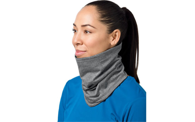 Gray Thermopolis LT 2-N-1 Neck Warmer By Asics
