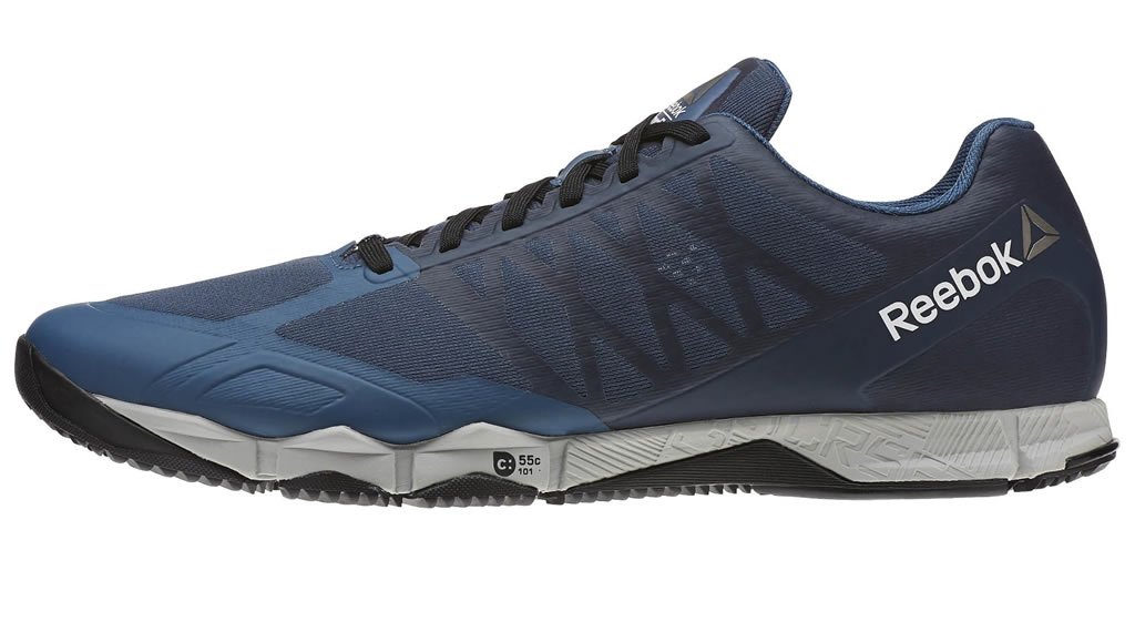 Grey Crossfit Speed TR Shoes For Men By Reebok