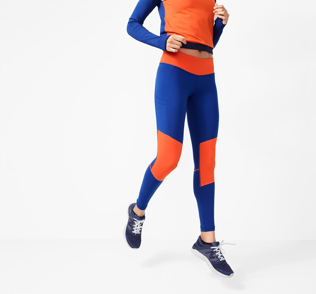 J.Crew x New Balance Performance leggings in colorblock