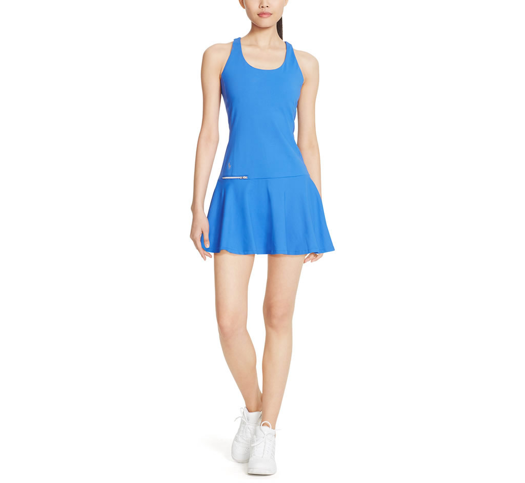 Mesh-Panel Jersey Dress By Ralph Lauren