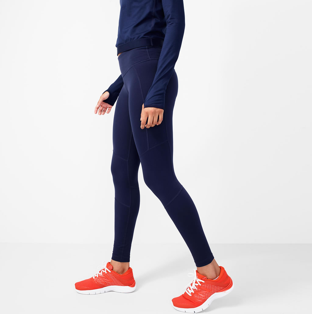 Navy Performance leggings by J.Crew x New Balance