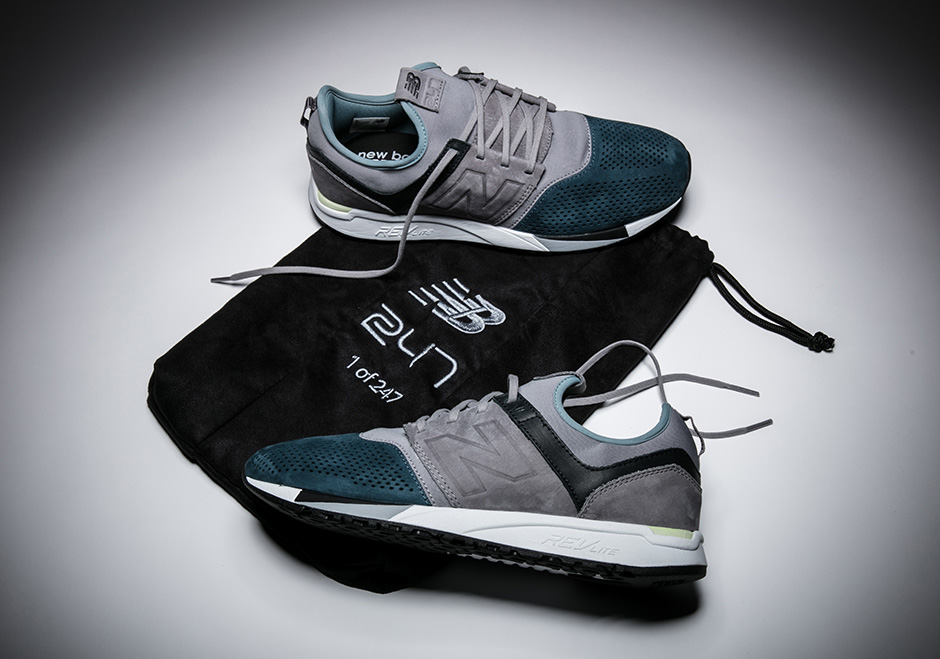 New Balance 247 Sneaker Has A Unique Taupe and Teal Colorway