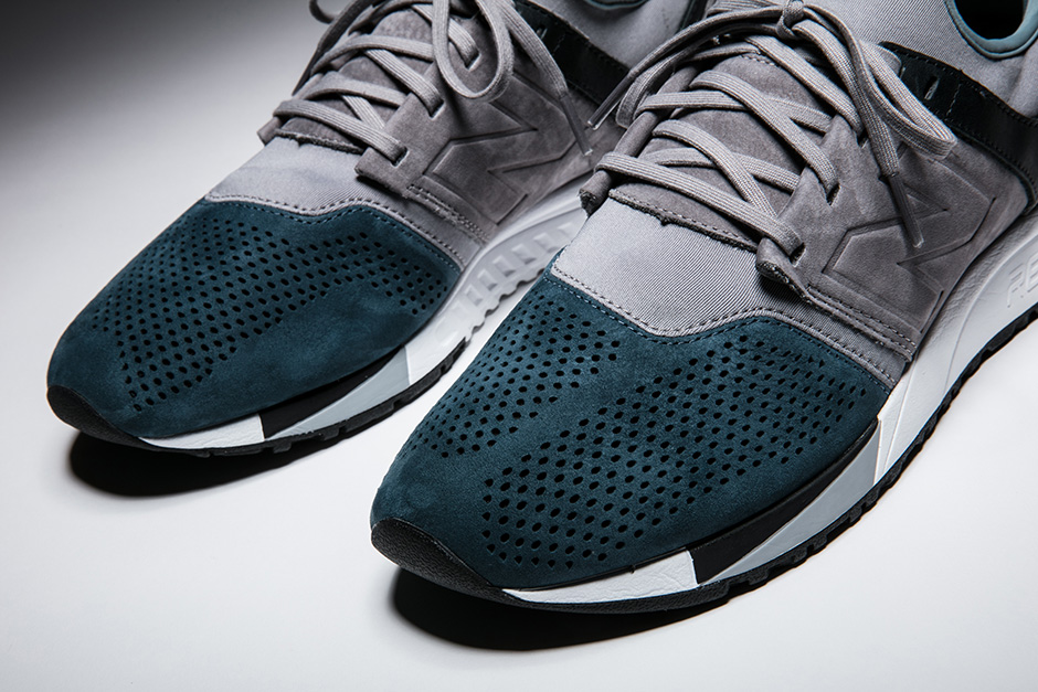 New Balance 247 sneaker Taupe and Teal Colorway