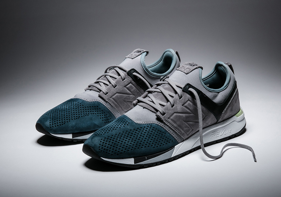 New Taupe and Teal 247 Sneaker by New Balance
