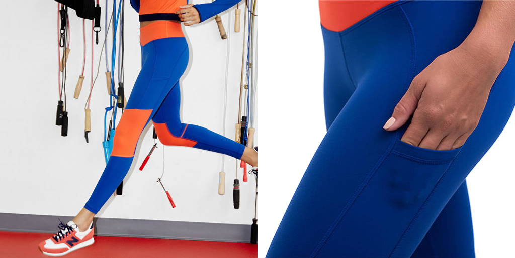 Performance leggings by J.Crew x New Balance