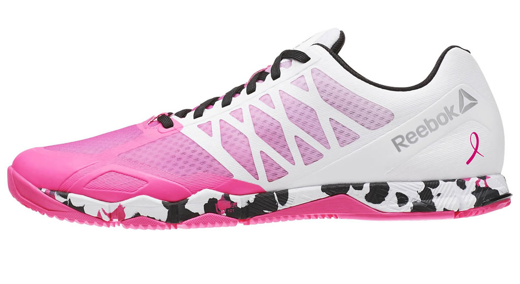 Pink Crossfit Speed TR Shoes For Men By Reebok
