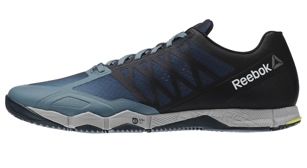 Teal Crossfit Speed TR Shoes For Men By Reebok
