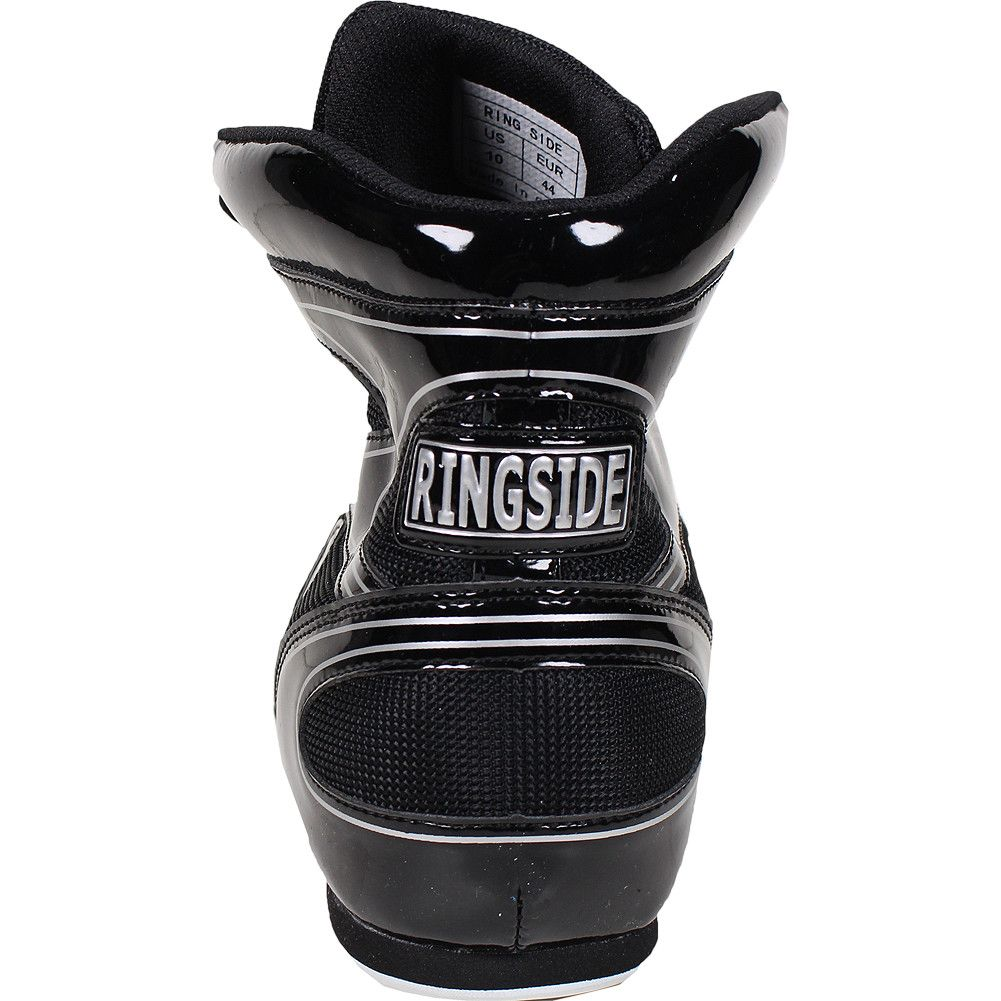 Black Diablo Boxing Shoes by Ringside, Heel Tab