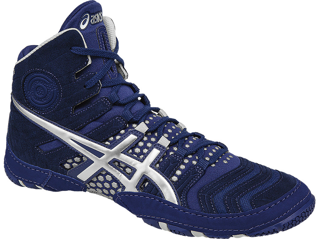 Blue Men's Dan Gable Ultimate 4 Wrestling Shoes By ASICS