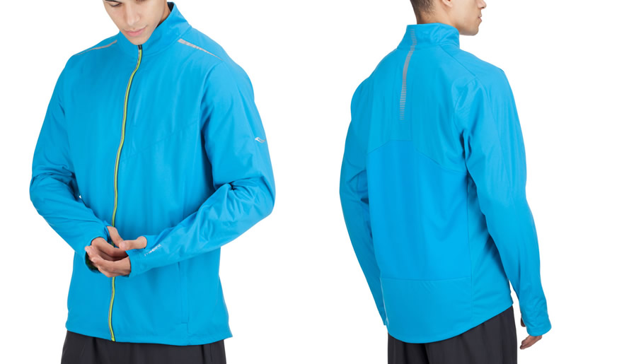 Blue Sporty Vitarun Jacket By Saucony