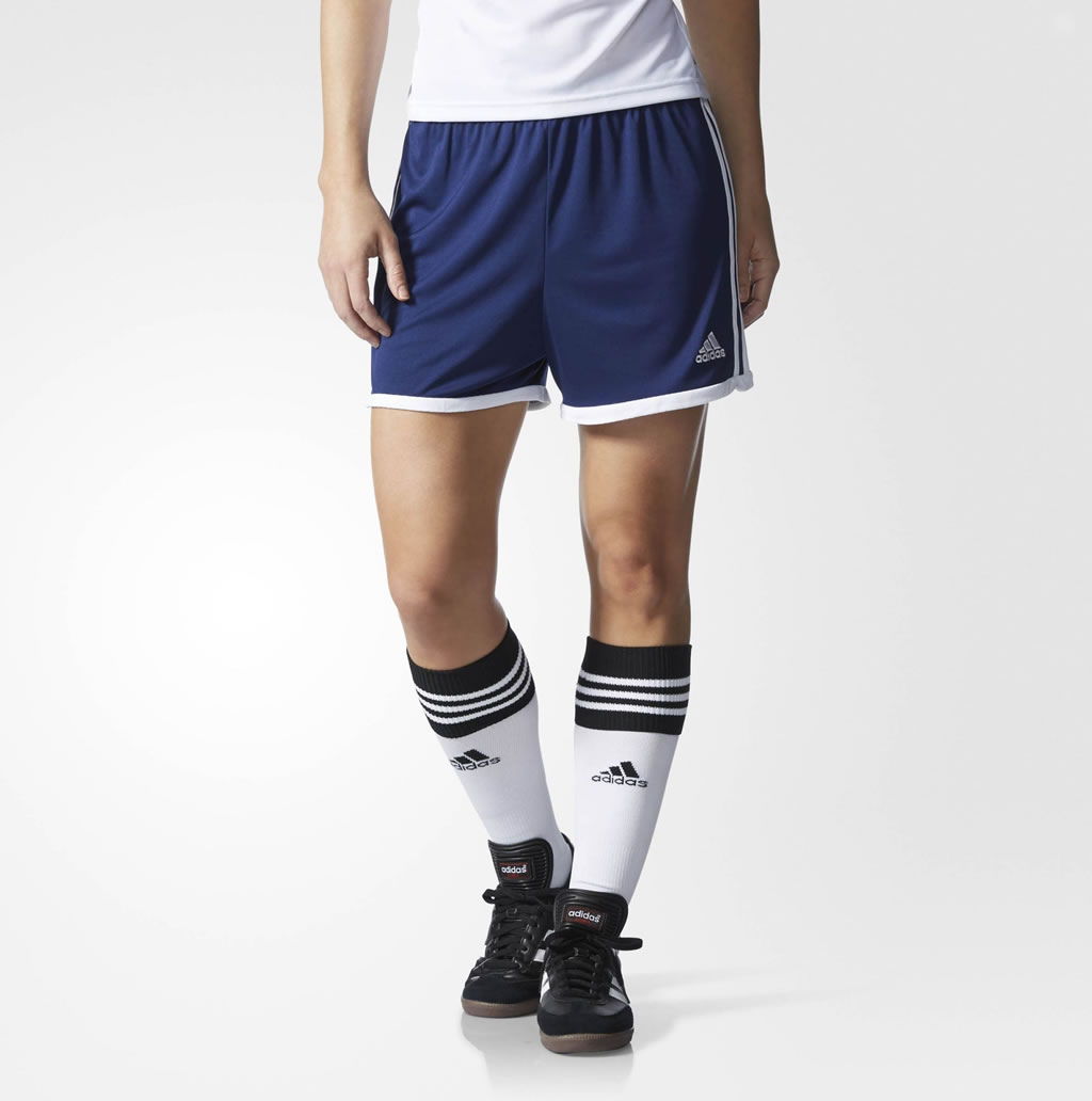 Blue Women's Soccer Shorts By Adidas