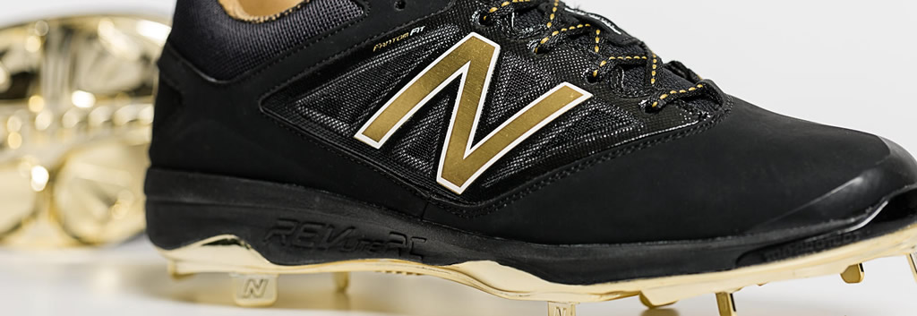 Bold And Gold Hero 4040v3 Metal Cleat By New Balance