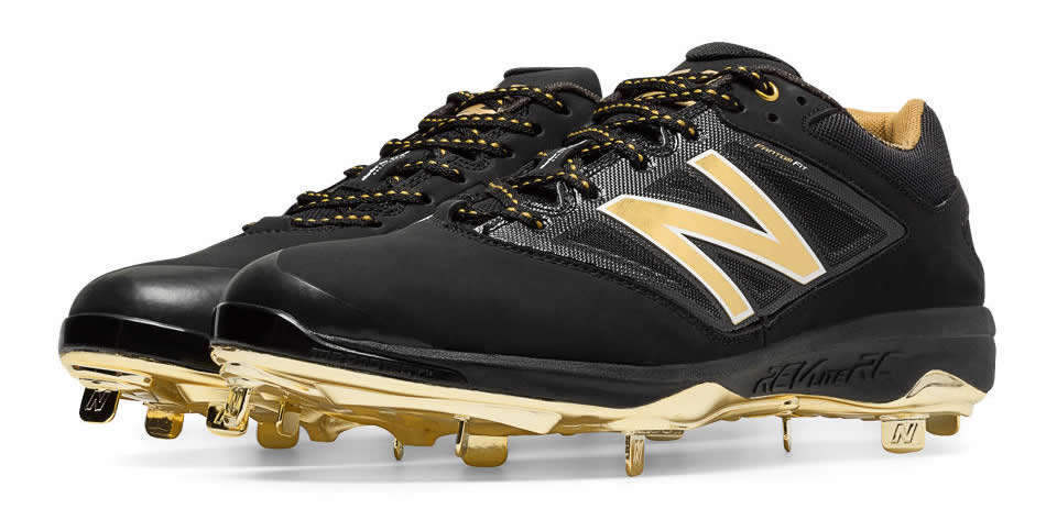 Gold Hero 4040v3 Metal Cleat By New Balance