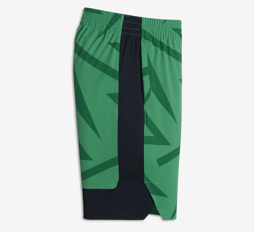 Green Flex Kyrie Hyper Elite Boys Basketball Shorts by Nike