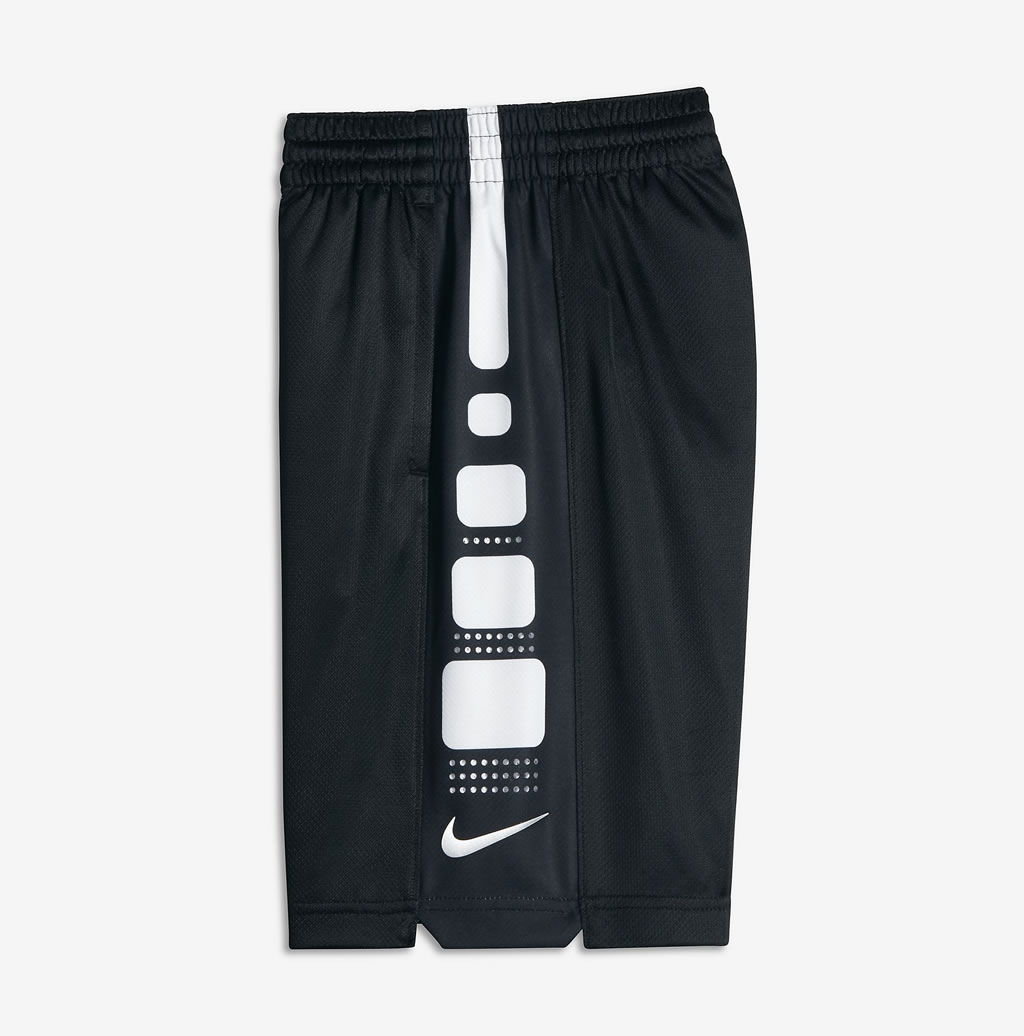 Nike Elite Big Kids' Basketball Shorts White/Black