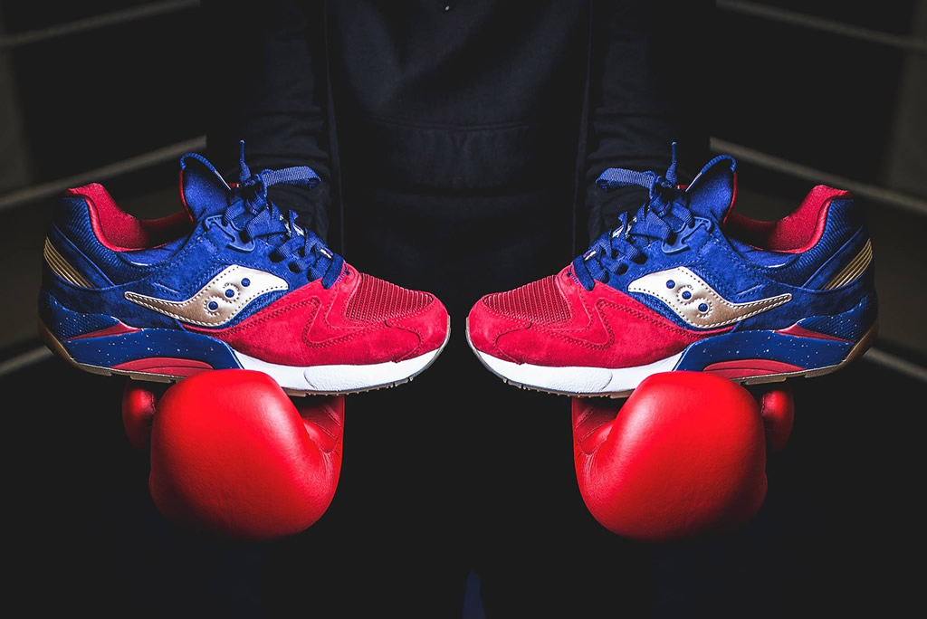 Red Grid 9000 By Saucony Inspired By Sparring