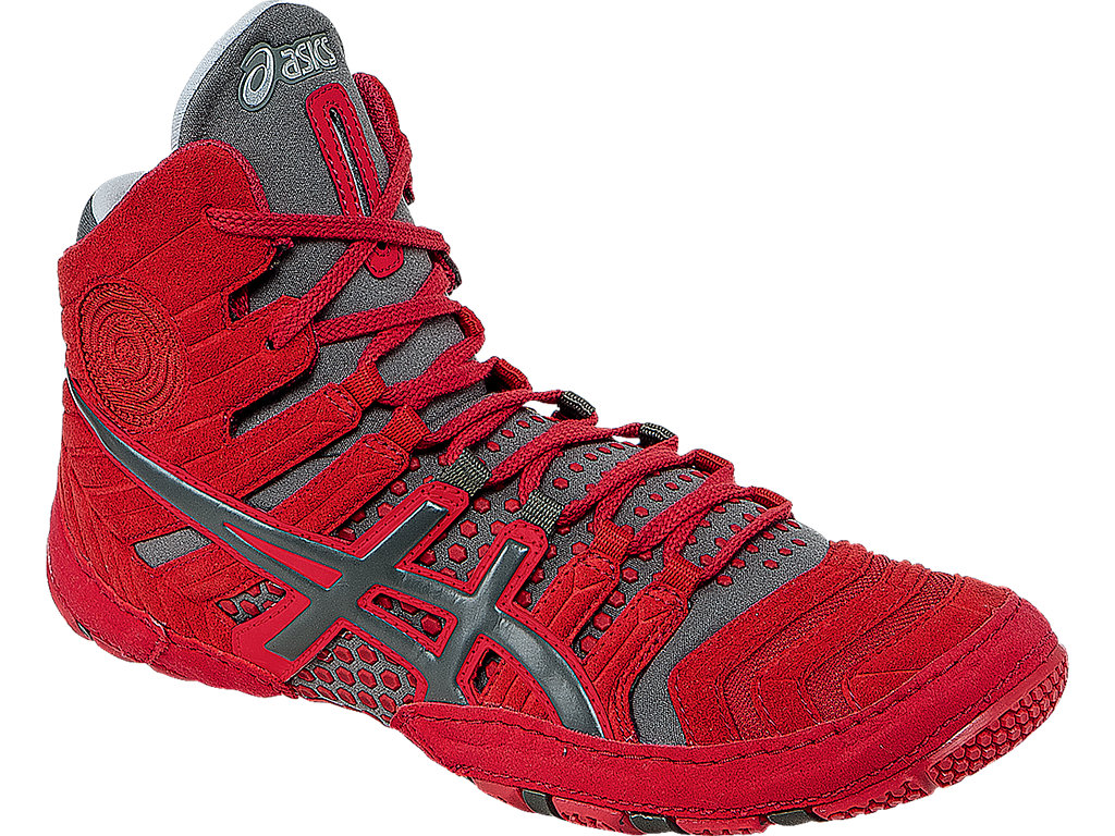 Red Men's Dan Gable Ultimate 4 Wrestling Shoes By ASICS