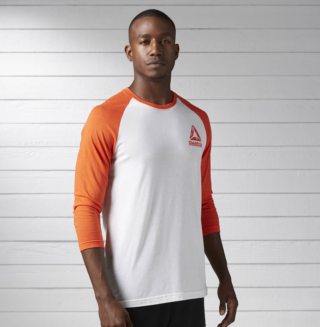 Sporty Baseball Tee By Reebok