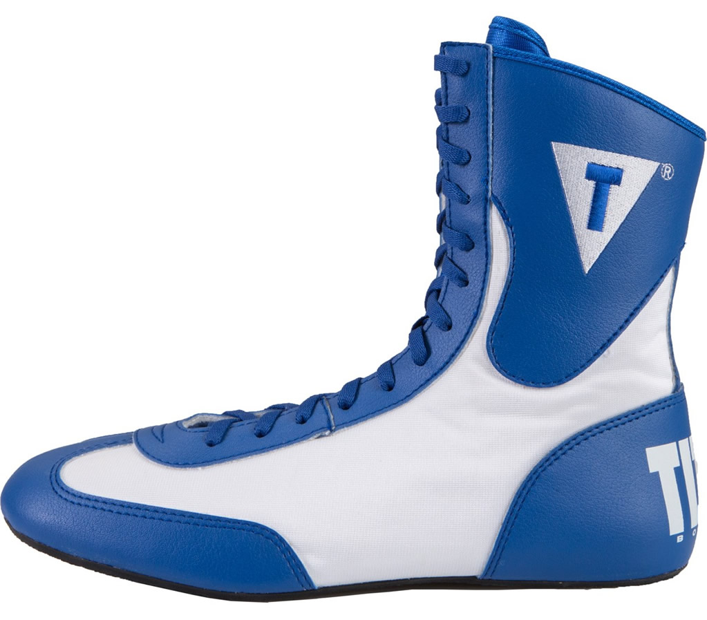 White TITLE Lo-Top Boxing Shoes