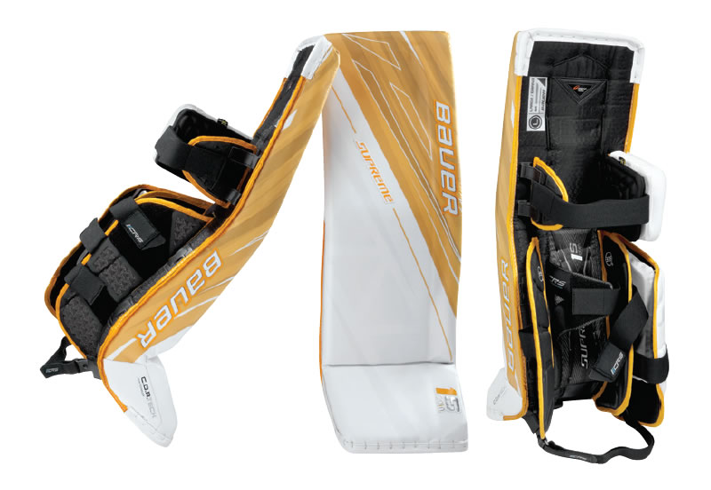 Bauer ice hockey goalie pads
