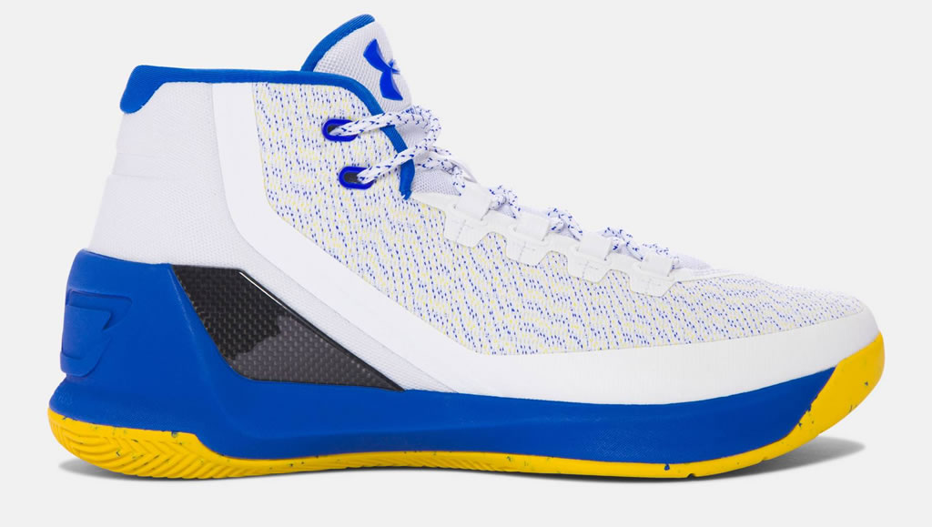 Blue Curry 3 Basketball Shoes For Men by UA
