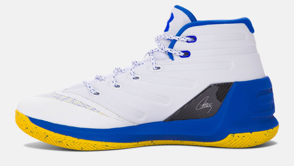 Blue Men's Curry 3 Basketball Shoes by UA