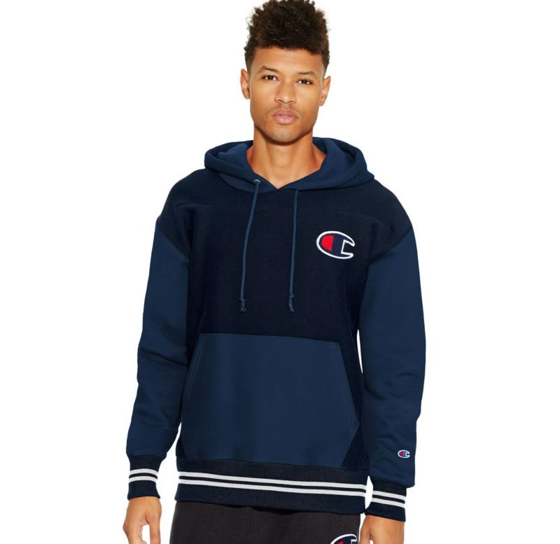 Blue Reverse Weave hoodie for men by Champion