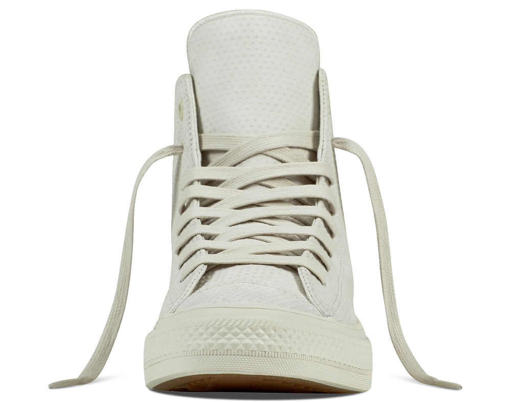 Converse White leather high tops for men