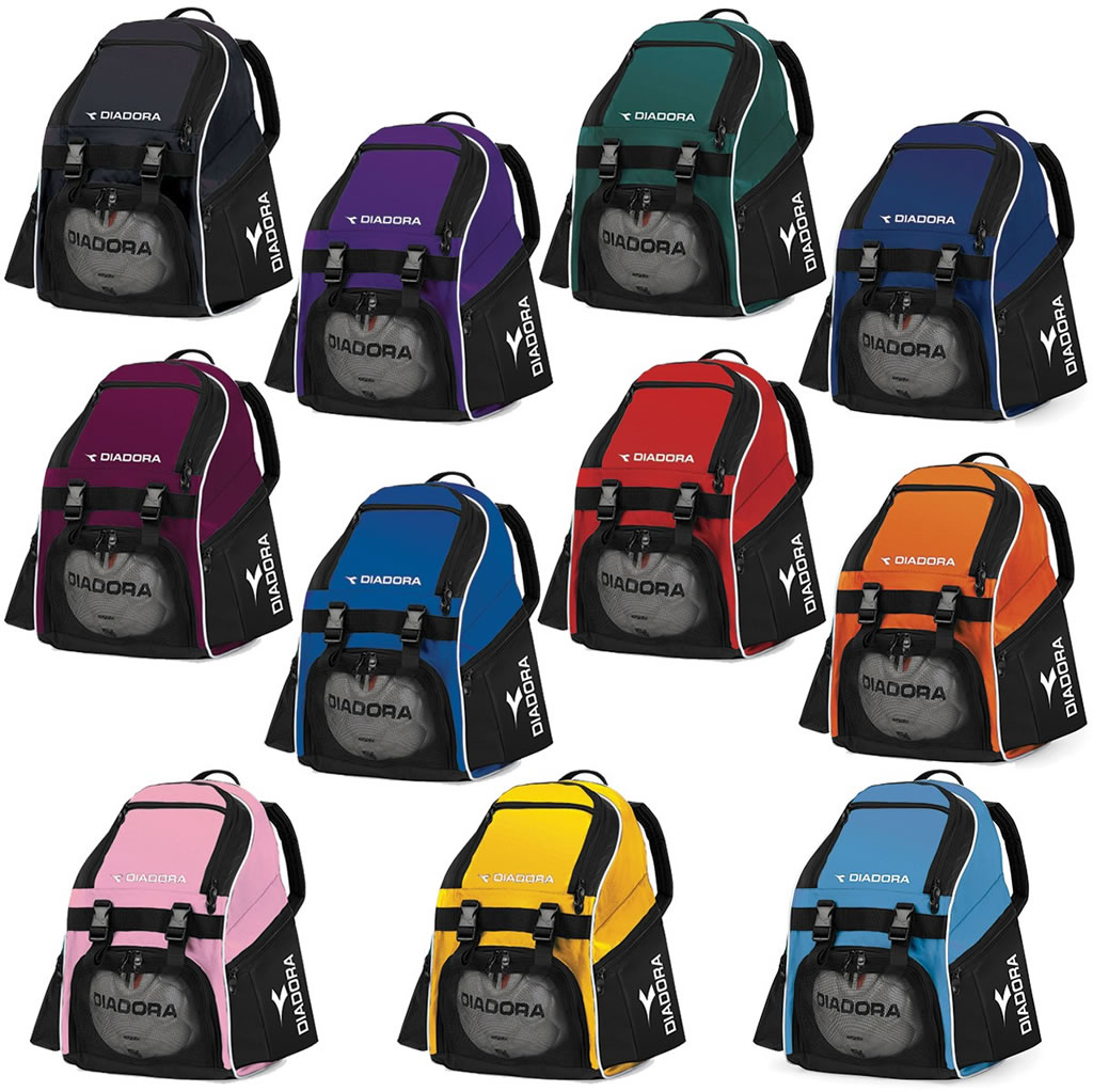 Diadora backpacks with ball pockets