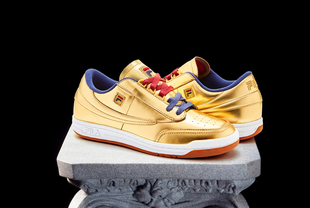 FILA Original Tennis Sneaker In Gold Leather