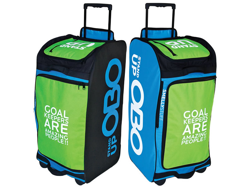 Field hockey goalie bags with wheels