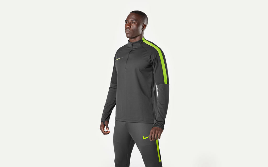 Football winter training apparel by Nike