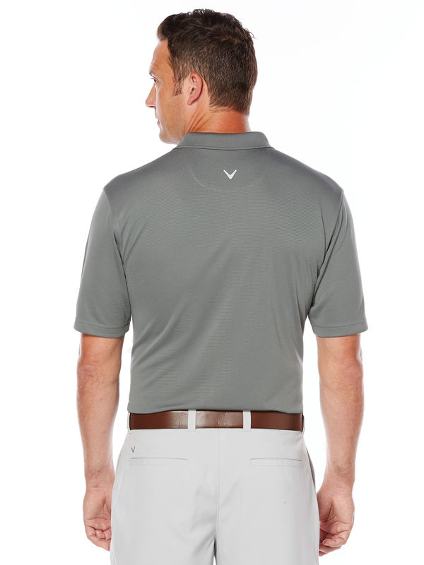 Gray golf shirt for men by Callaway, Back