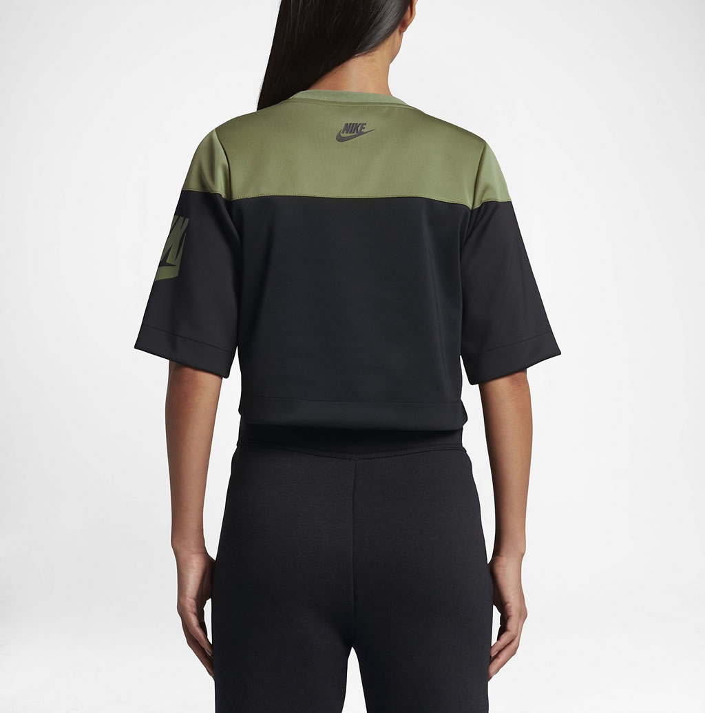 Green Track and field crop top for women by Nike