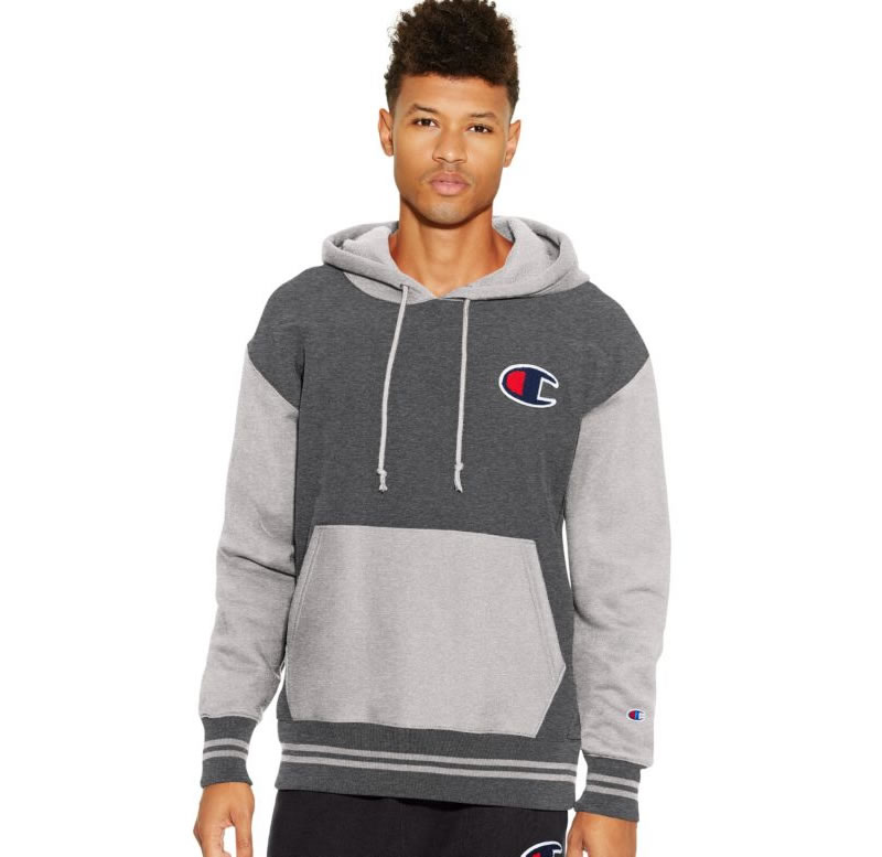 Grey Reverse Weave hoodie for men by Champion