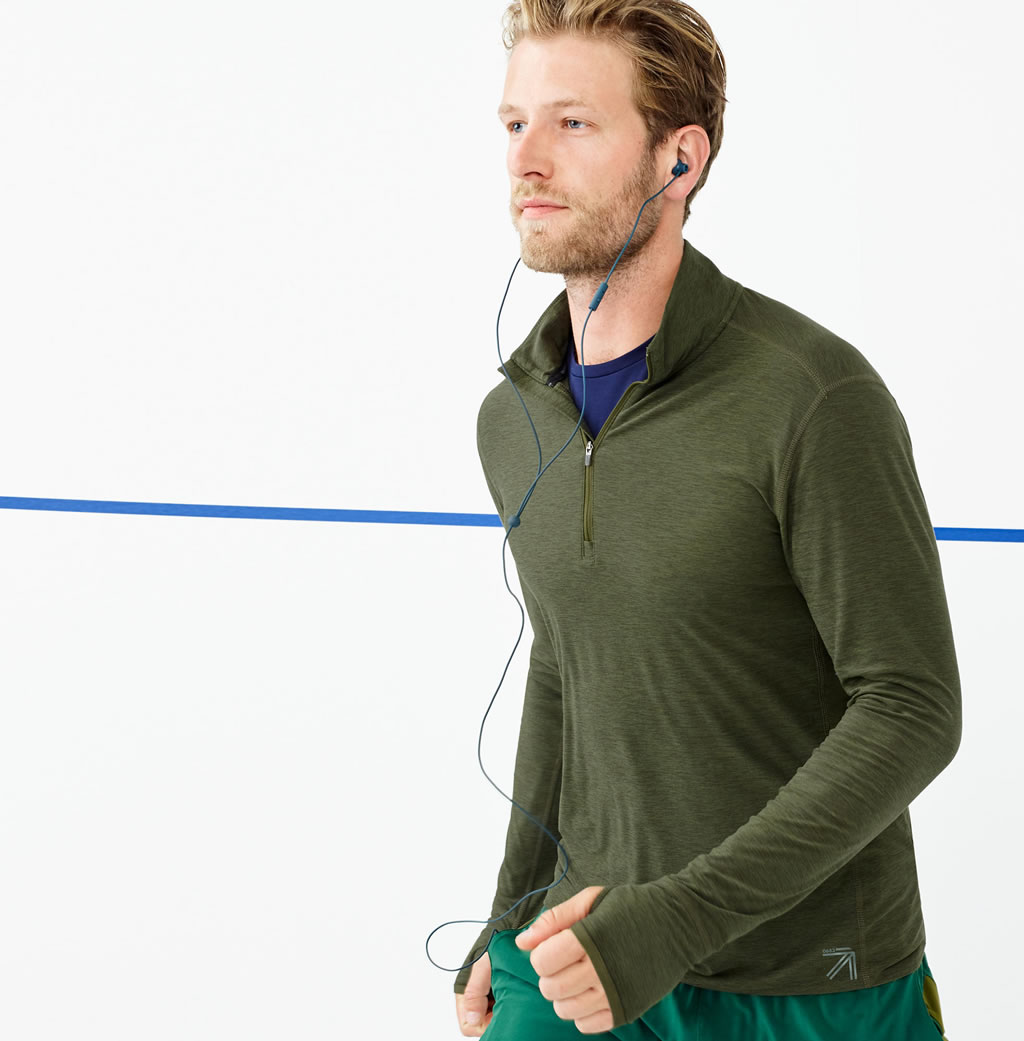 J.Crew half-zip pullover by New Balance