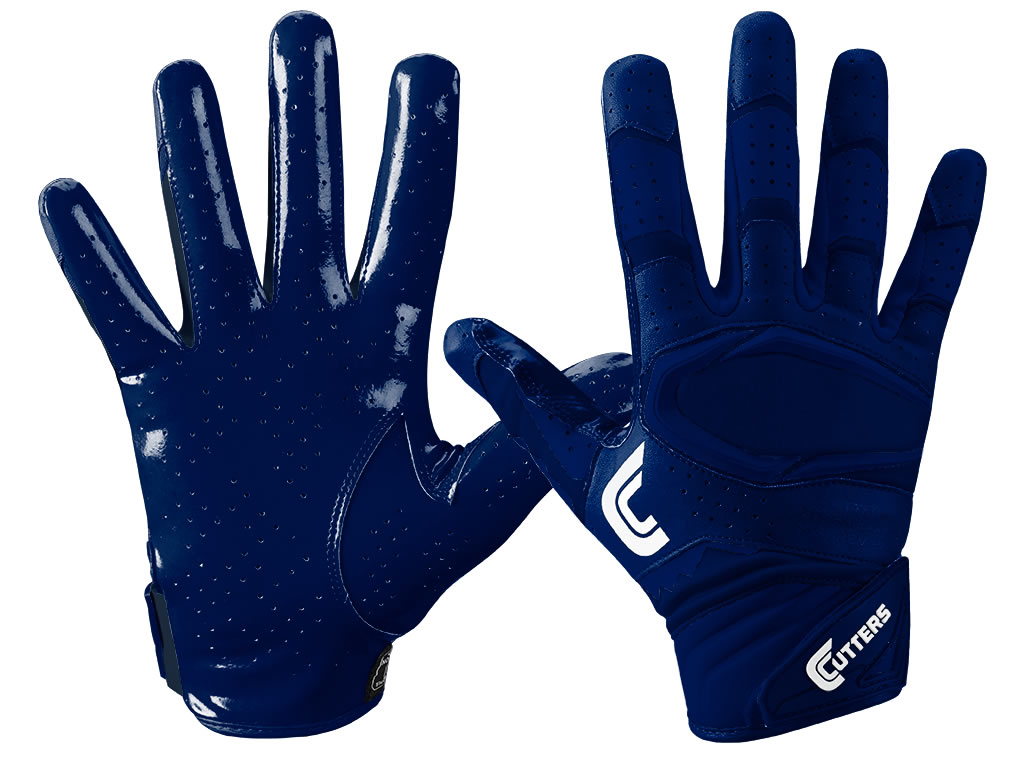 Navy Football Gloves by Cutters