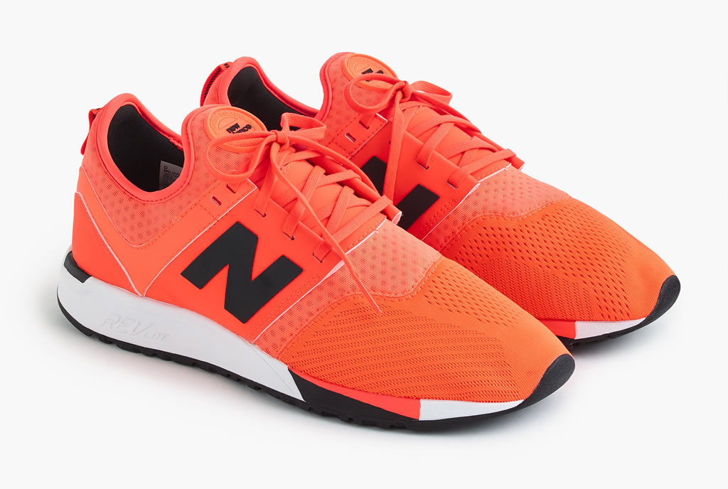 Orange 247 Sport sneakers by New Balance