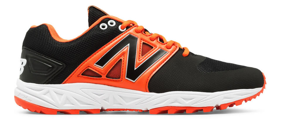 Orange Men's Turf 3000v3 Baseball Cleats By New Balance, Side