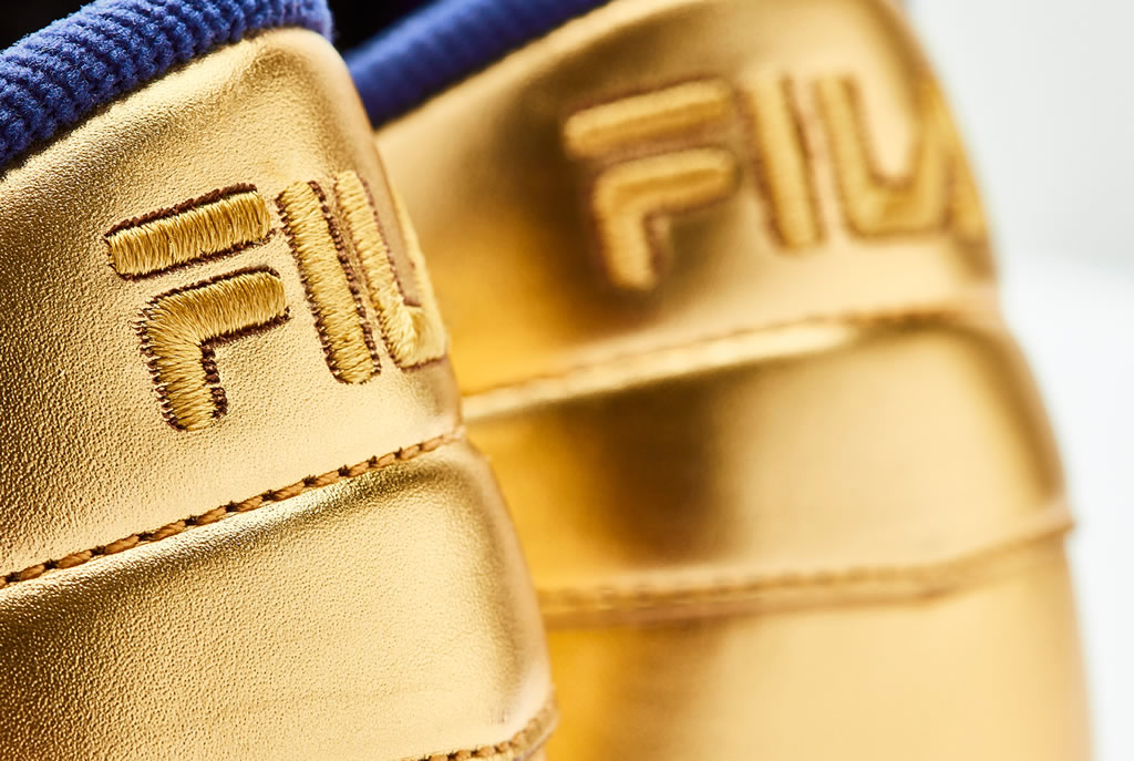 Original Tennis Sneaker In Gold Leather by FILA