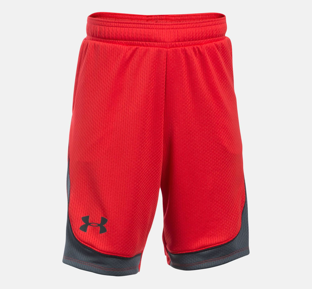 Red Basketball Shorts for Women By UA
